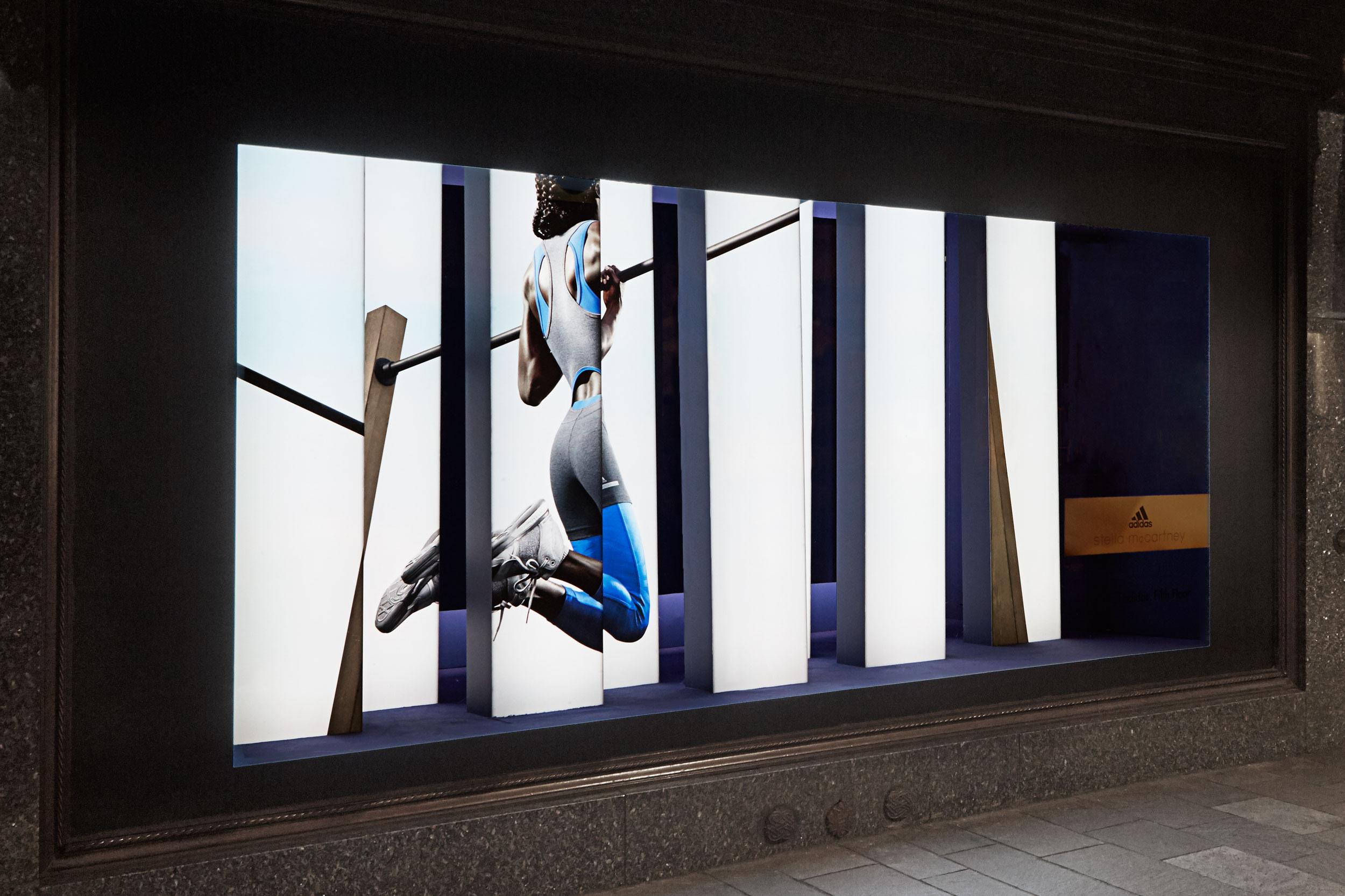 Adidas by stella mccartney ss16 storeystudio for Window design jobs london